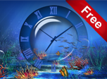 Aquatic Clock - Windows 10 Effects Screensavers