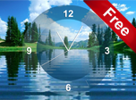 Lake Clock Screensaver - Windows 10 Clock Screensavers