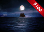Moonlit Ship Screensaver - Windows 10 Free Ship Screensaver