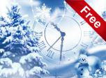 Snowfall Clock Screensaver - Windows 10 Clock Screensavers
