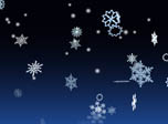 3D Winter Snowflakes Screensaver - Windows 10 3D Snowfall Screensaver - Screenshot 1