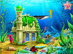 Aqua Castles - Windows 10 Free Aqua Screensaver - Screenshot 1