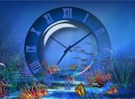 Aquatic Clock Screensaver - Windows 10 Aqua Screensaver - Screenshot 1