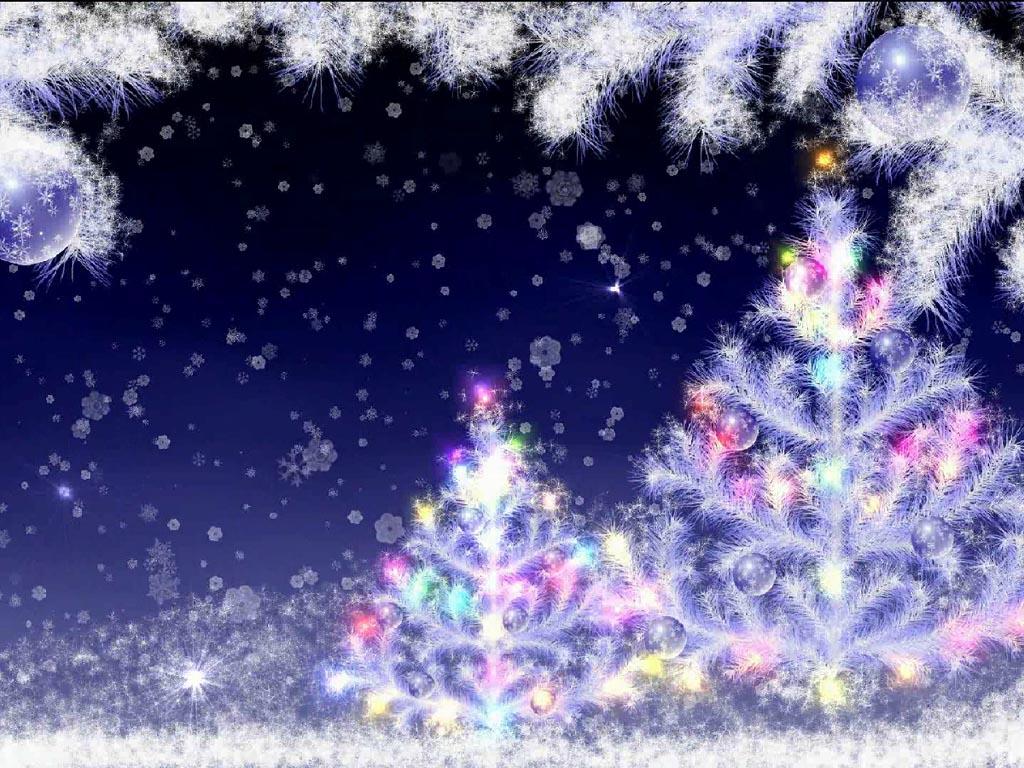Falling Snow Screensaver - Windows 10 New Year and Christmas Screensaver - Screenshot 1