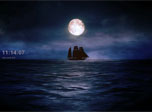Moonlit Ship Screensaver - Windows 10 Free Ship Screensaver - Screenshot 1